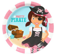 Pretty Pirates Party Dinner Plates