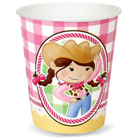 Pink Cowgirl 9 oz. Paper Cups