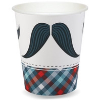 Little Man Mustache 9 oz. Paper Cups