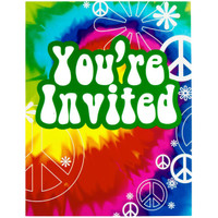 Tie Dye Fun Invitations