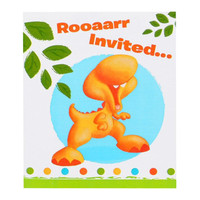 Little Dino 1st Birthday Invitations