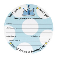 Lil' Prince 1st Birthday Invitations