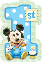 Disney Mickey's 1st Birthday Invitations