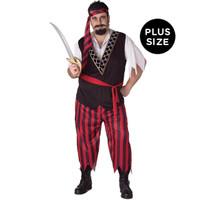 Pirate Adult Plus Costume