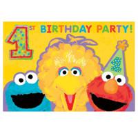 Sesame Street 1st - Invitations