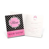 Diva Zebra Print Invitations
