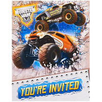 Monster Jam 3D Invitations