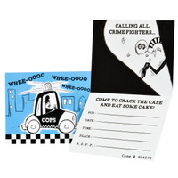 Cops and Robbers Party Invitations