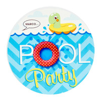 Splashin' Pool Party Invitations