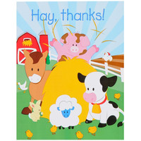 Barnyard 2nd Birthday Thank You Notes