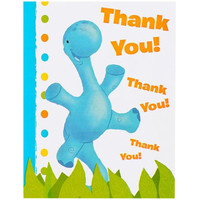 Little Dino 1st Birthday Thank You Notes