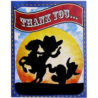Cowboy Thank-You Notes