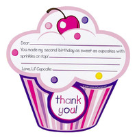 Girl's Lil' Cupcake 2nd Thank You Notes