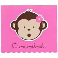 Pink Mod Monkey Thank-You Notes