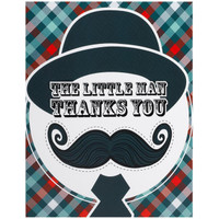 Little Man Mustache Thank-You Notes