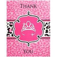 Diva Zebra Print Thank-You Notes