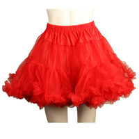 Layered Tulle (Red) Adult Petticoat