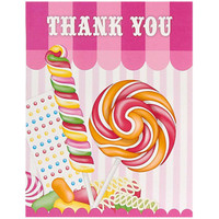 Candy Shoppe Thank-You Notes