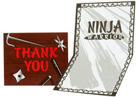 Ninja Warrior Party Thank-You Notes