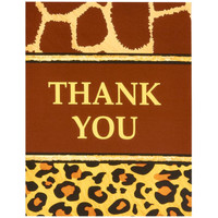 Safari Adventure Party Thank-You Notes