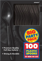 Black Big Party Pack - Spoons