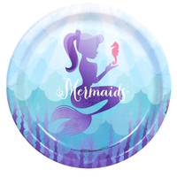 Mermaids Under the Sea Dinner Plates