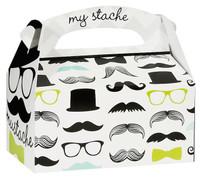 Mustache Man Empty Favor Boxes