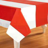 Red & White Stripes Tablecover