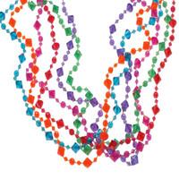 Pearlized Diamond Bead Necklaces
