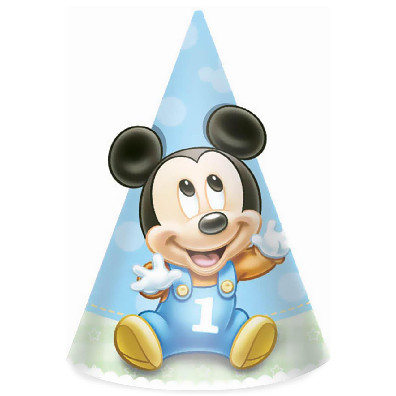 Disney Mickeys 1st Birthday Cone Hats Image 1 Loading Zoom