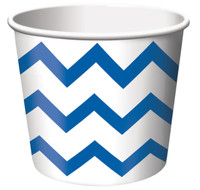 Chevron Stripe Treat Cups - Blue (6)