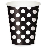 Black and White Dots Cups (6)