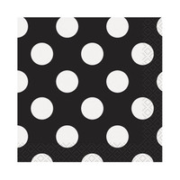 Black and White Dots Beverage Napkins (16)