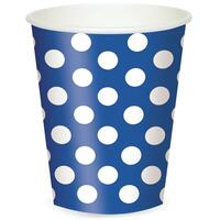 Blue and White Dots Cups (6)