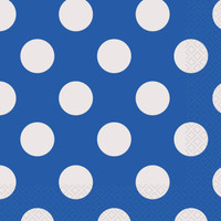 Blue and White Dots Lunch Napkins (16)