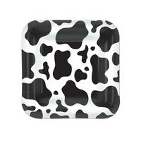Cow Print Dessert Plates (8)