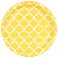 School Bus Yellow Quatrefoil Dinner Plates (8)