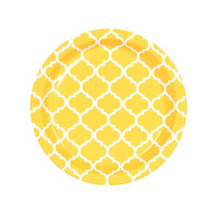 School Bus Yellow Quatrefoil Dessert Plates (8)