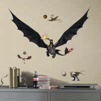 How to Train Your Dragon 2 - Hiccup & Toothless Giant Wall Decals