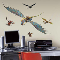 How to Train Your Dragon 2 - Astrid & Stormfly Giant Wall Decals