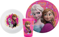 Disney Frozen Plate, Bowl & Tumbler Set
