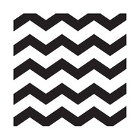 Chevron  Black Beverage Napkins (16)