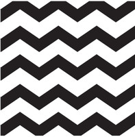 Chevron Black Lunch Napkins(16)