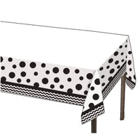 Chevron / Dots Black - Plastic Tablcover