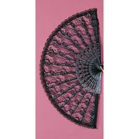 """Lace Fan 9"""" (Black)"""