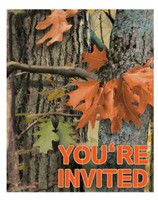 Hunting Camo Invitations (8)
