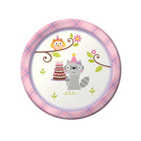 Happi Woodland Girl Dessert Plates (8)