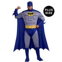 Batman Brave +ACY- Bold Deluxe Muscle Chest Adult Plus Costume