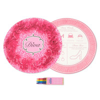 Diva Zebra Print Activity Placemat Kit for 4