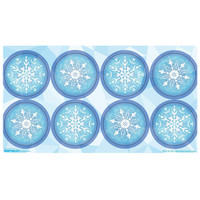 Snowflake Winter Wonderland Small Lollipop Sticker Sheet